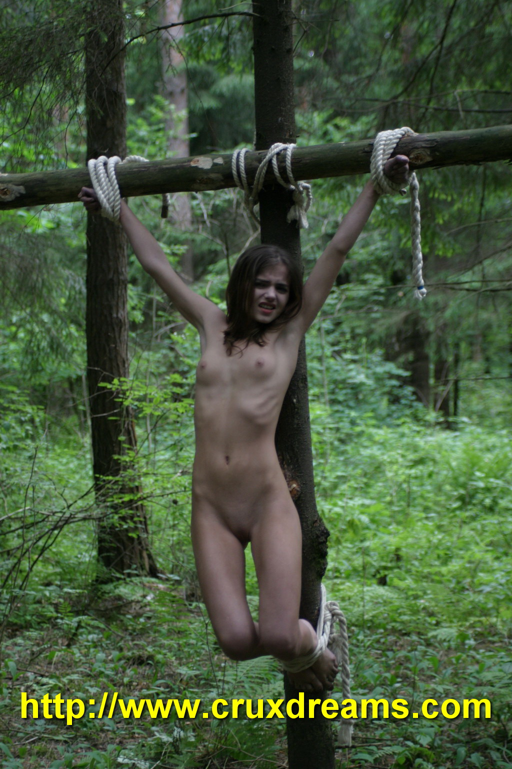 Sexy sex bare naked in forest sex porn clip